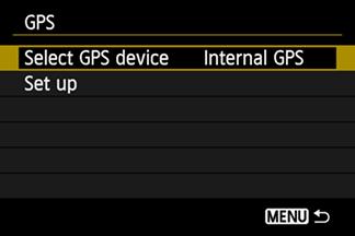 Включение GPS Canon EOS 6D