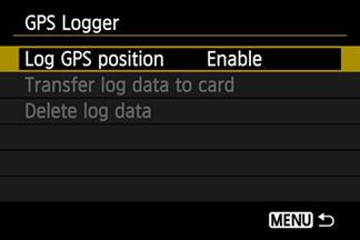 Логгер в GPS Canon EOS 6D